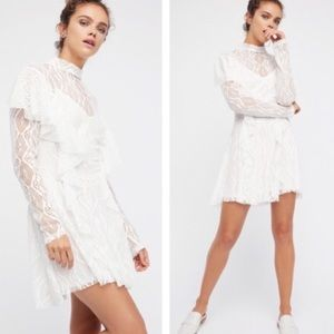 FREE PEOPLE Angelic White Lace Dress